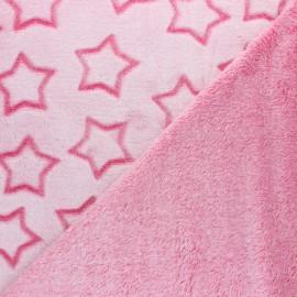 Double sided baby's security blanket - Beige Pluie d'étoiles x 10cm