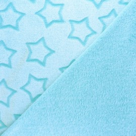 Double sided baby's security blanket - mint green Pluie d'étoiles x 10cm