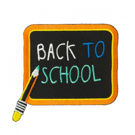 Back to school iron-on patch - Blackboard