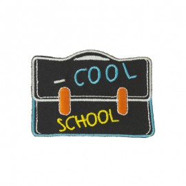Back to school iron-on patch - Schoolbag