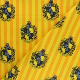 Harry Potter cotton fabric - yellow Hufflepuff House x 10cm
