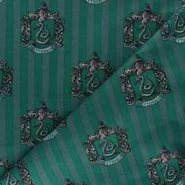 Harry Potter cotton fabric - Green Slytherin House x 10cm