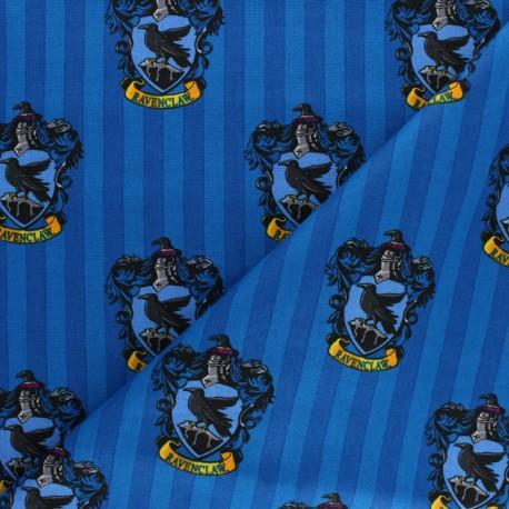 Harry Potter cotton fabric - Blue Ravenclaw House x 10cm