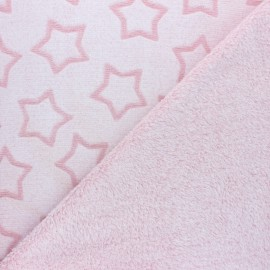 Double sided baby's security blanket - Fuschia Pluie d'étoiles x 10cm