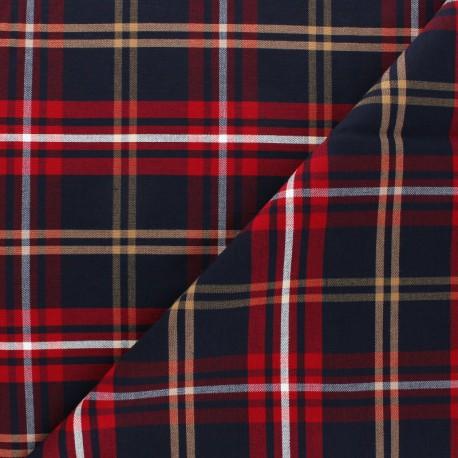 Tissu Gabardine lycra Carreaux - noir x 10cm