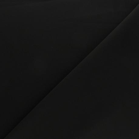 Tissu Tailleur élasthanne uni - noir x 10cm