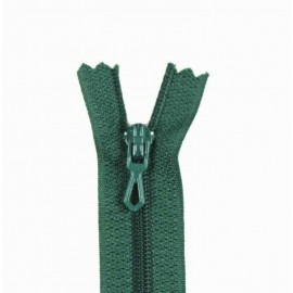 Closed bottom zipper - lichen green