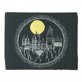 Harry Potter iron-on patch - Hogwarts by night