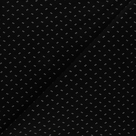 Tissu Gabardine lycra Dobby - noir x 10cm