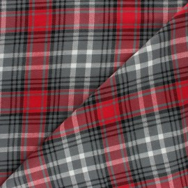 Lurex Scottish Tartan Cotton fabric - grey Dagobert x 10cm
