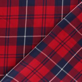 Tissu coton sergé fluide Damibert - rouge x 10cm