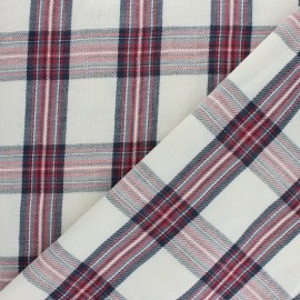 Double cotton gauze fabric - raw Leopard x 10cm