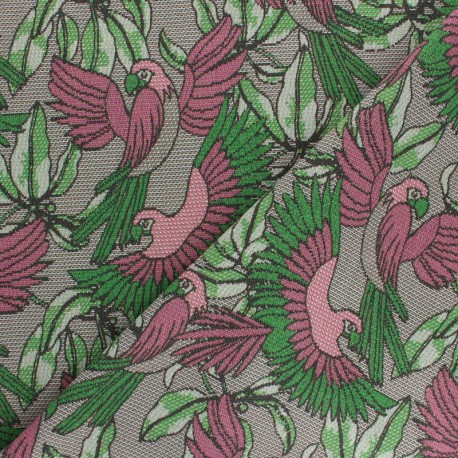Scratched Cotton fabric - green/black Telmond x 10cm