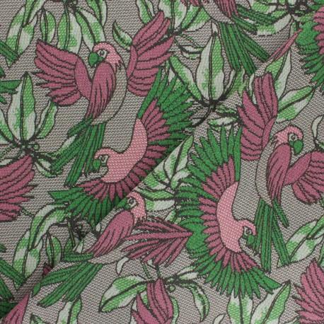 Tissu coton gratté Telmond - vert/noir x 10cm
