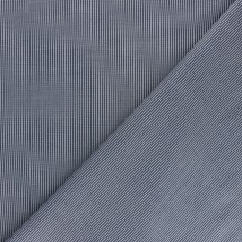 Shirt strech Poplin Cotton fabric - blue Ansèlme x 10cm