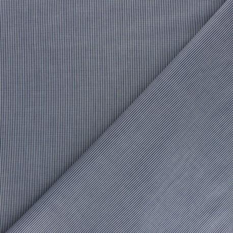 Tissu popeline Chemise Stretch Ansèlme - bleu x 10cm