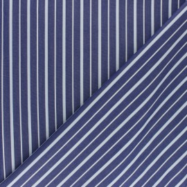 ♥ Coupon 10 cm X 150 cm ♥  Shirt Poplin Cotton fabric - blue Aimé