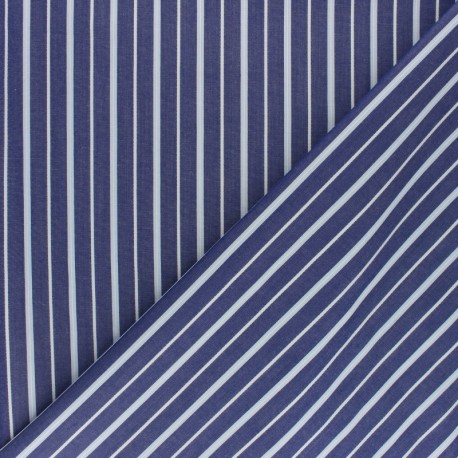 Tissu popeline Chemise Aurèle - bleu x 10cm