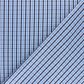 Shirt Poplin Cotton fabric - blue Aimé x 10cm