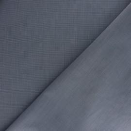 Tissu popeline Chemise Andrey - bleu x 10cm