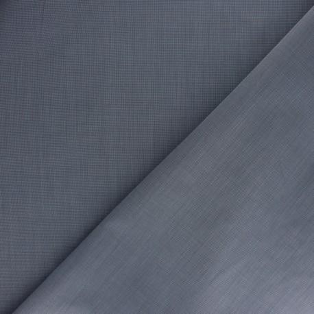 Checked Poplin Cotton fabric - blue Alfred x 10cm