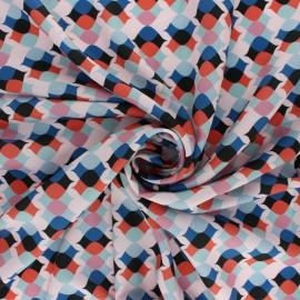 Matte Polyester satin fabric - Pink Ludivine x 50cm