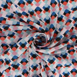 Tissu satin mat Alli - rouge x 50cm