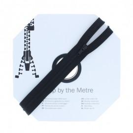 Fermeture à glissière au mètre (10m) - Noir