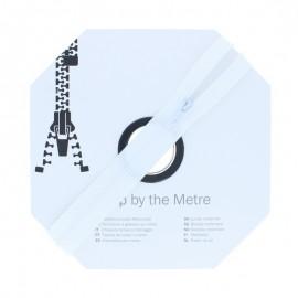 Fermeture à glissière au mètre (10m) - Blanc