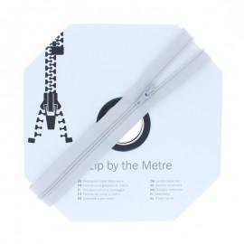 Fermeture à glissière au mètre (10m) - Gris clair