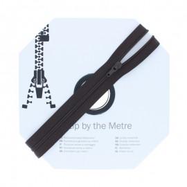 Fermeture à glissière au mètre (10m) - Marron