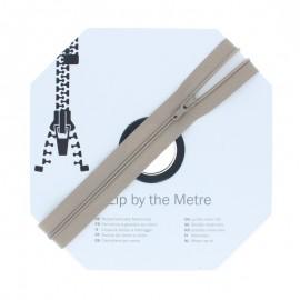 Fermeture à glissière au mètre (10m) - Taupe