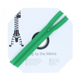 Zip by the meter with sliders (10m) - Green Meadow