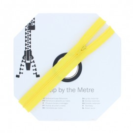 Zip by the meter with sliders (10m) - Yellow