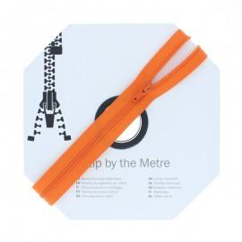 Fermeture à glissière au mètre (10m) - Orange