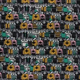 Tissu sweat léger Poppy Curio-city - gris x 10cm