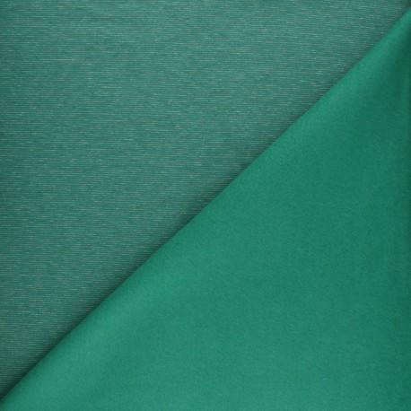 speckled sweatshirt fabric - khaki green x 10cm