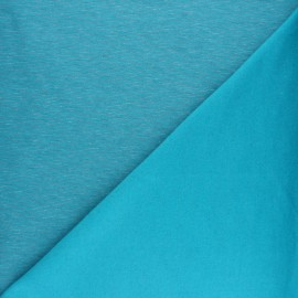 Sweatshirt fabric - turquoise fine stripes x 10cm