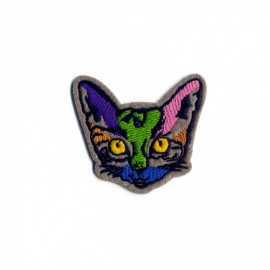 Painted Animals Iron-On Patch - Cat
