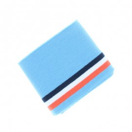 Organic Striped Edging Fabric (140x7cm) - Blue