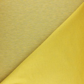 ♥ Coupon 60 cm X 160 cm ♥ Sweatshirt fabric - mustard yellow fine stripes
