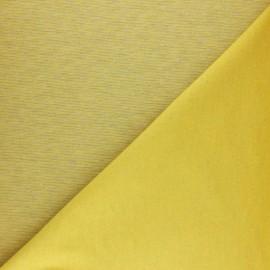 ♥ Coupon 60 cm X 160 cm ♥  Tissu sweat à fines rayures - moutarde