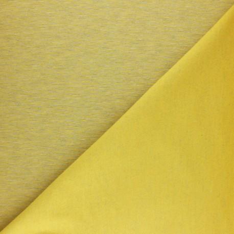 Sweatshirt fabric - mustard yellow fine stripes x 10cm