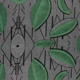 Tissu voile coton viscose Makeba - vert x 10cm