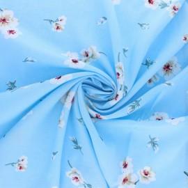 Viscose voile fabric - light blue Envol x 10cm