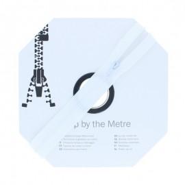 Fermeture à glissière au mètre (10m) - Écru