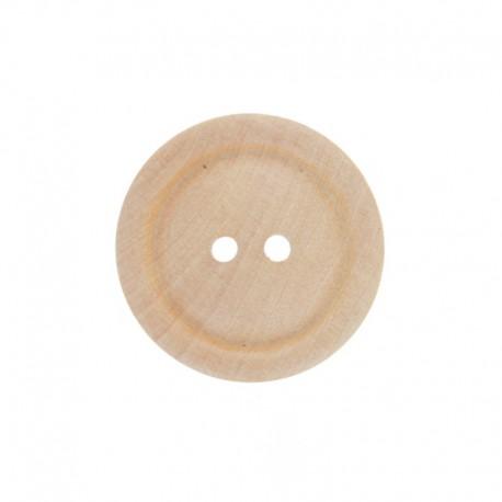 Wooden button - Lorelei Natural