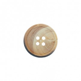 Wooden button - Burnt Natural