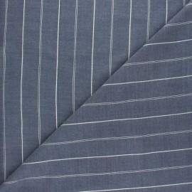 Tissu voile de viscose Lurex Platinium - bleu ciel x 10cm