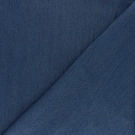 ♥ Coupon 50 cm X 140 cm ♥  Denim Aspect Tencel fabric - medium blue
